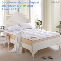 Wholesale New arrival King size cm height Duck Down filling cotton cover Mattress Topper cm quilted mattress Pad