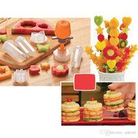 Wholesale New Arrivals Creative Kitchen Gadgets Accessories Tools Plastic Fruits Vegetable Shape Cutter Slicer Food Decor C315