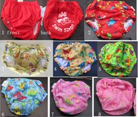 Wholesale Baby Swim Diaper Cover Baby Boy Swim Shorts Girl Swim Panty Secure Protection Cute Printings Size Months Tidy Sewing Great Workmanship