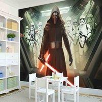 Wholesale Star Wars Photo wallpaper Custom D Wallpaper Classic Movies Wall Mural Children s Room decor Bedroom Living room Home decoration Art Design