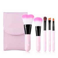 beauty cosmetic products - 5pcs Makeup Brush Set Synthetic Hair Cosmetic Brush Set Professional Product Pink Handle for Beauty MAS_20C