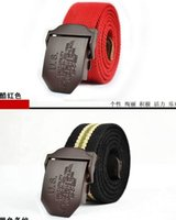Wholesale US coffee buckle120CM Canvas Belt outdoor sports jeans casual belt