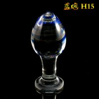 adult production - Crystal glass anal plug plug fun supplies production and processing couple supplies a generation of fat adult toys