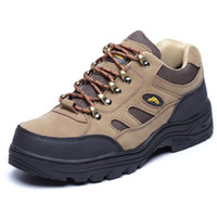 steel toe safety shoes - Mail men and women leather shoes steel toe caps breathable solid wear resistant oil hit the stab resistant safety shoes work shoes