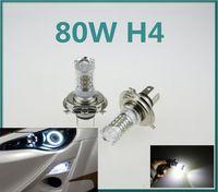 Wholesale 1X Super White CREE high power Lights LED Headlamp H4 HB2 CREE W LED Projector Hi Lo Beam Headlamp Conversion