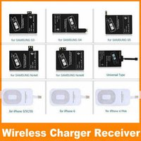 Wholesale Qi Charger Receiver Wireless Charging Adapter Receptor Receivers Pad Coil For Samsung Galaxy S3 S4 S5 Note iphone S S OM QI