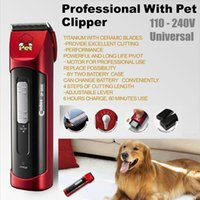battery clippers - Professional Pet Electric Shaver Dog Trimmer Clipper Dual Batteries Speed Adjustment Codos CP9500 Rechargeable