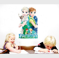 Wholesale Wall stikce Frozen Princess wall sticker Cartoon Wall Stickers Home Decor Removable Stickers for Kids Rooms Home Decoration Dhgate Sticker