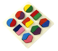 Wholesale Christmas Wooden Geometry Montessori Early Learning Kid Baby Educational Toy Gifts baby toy TY342