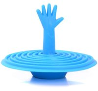 Wholesale 10pc pc Drowning Hand Sink Plug Creative household items washroom products hand shape plug rubber J02