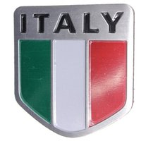 Wholesale Alloy Metal Auto Racing Sports Emblem Badge Decal Sticker For Italy Italian Flag