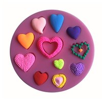Wholesale Many Love Shape Silicone Mold Fondant Candle Molds Sugar Craft Tools Chocolate Moulds Cakes Molds silicone mat