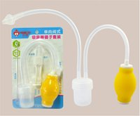 Wholesale 2016 Anti backwash Nasal Aspirator Cute Universal Super Simple Safe Convenient Pump Infant Nasal Suction Device Baby Care