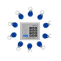 al por mayor rfid clave cerraduras de las puertas-Puerta de entrada de seguridad de proximidad RFID lector de tarjetas de control de bloqueo de control de acceso al sistema 10 Teclas de acceso 800860