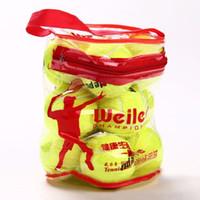Wholesale 12pcs bag Natural Rubber Synthetic Wool Fiber Entry level Tennis balls for Children Women Tennis Training Tennis Ball