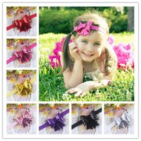 Wholesale new design quot baby ribbon bows headband hairband kids hair accessories children accessories Baby Boutique bows