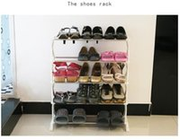 Wholesale 15 Pairs Tier Level Stackable Space Saving Shoes Rack Organizer Storage Shelf