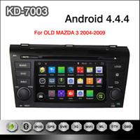 Pure Android 4.4.4 Cortex A9 de doble núcleo de la pantalla de 7 pulgadas multi-touch capacitiva de coches reproductor de DVD para vieja Mazda 3 2004 a 2009 con la navegación GPS