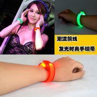 wrist support - LED wrist band LED light luminous wrist strap flash arm bands safety Armbands