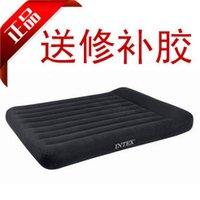 Wholesale Genuine INTEX built in pillow air mattress double increase air bed to send pump gum