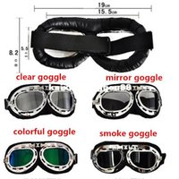 Wholesale HELMET Goggles Open face motorcycle Goggles glasses Motocross Scooter Cruiser Helmet Eyewear for Har Ly Bikes