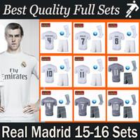 football set - DHL freeshipping Best quality kits madrid soccer jerseys real madrid full set RONALDO BALE RAMOS james isco football shirts