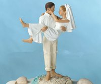 beach wedding cake topper - Beach Wedding Cake Topper Resin Craft Groom And Bridal