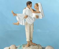 beach wedding crafts - Beach Wedding Cake Topper Resin Craft Groom And Bridal
