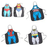 Wholesale New styles giant apron superman Hero Anime Cartoon Character Series Kitchen Apron Funny Personality Cooking Apron Gift A500