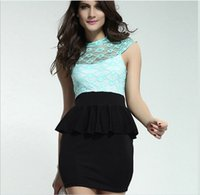 Night Out & Club Summer Crew Neck 2014 Sexy Lace Dress Short Tight Mini Luxury Club Satin Women Clothes sequined Party Evening black dresses
