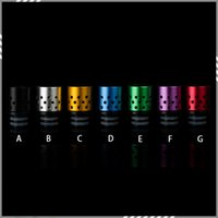 aluminum rad - Newest Drip tips Holes Air Control Drip Tips Wide Bore Aluminum Adjustable Airflow Drip Tip Mouthpiece for EGO Atomizer RAD DHL Free