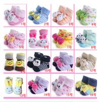 baby bottoms doll - 2015 fall Baby stereoscopic socks baby doll socks cartoon non slip bottom floor modeling socks optional color pairs B