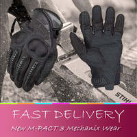 Gants de travail pour homme Prix-Gros-NEW Mechanix Wear M-PACT 3 TRAVAIL / DUTY Ultra hommes DISSIMULEES Knuckle Gant tactique de protection d'impact