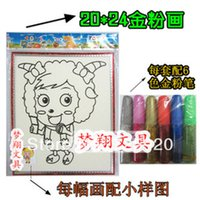 belt sanding paper - Child Medium powder sand belt box plastic painting powder drawing toys x24cm