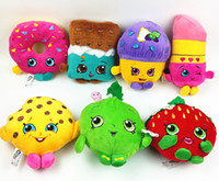 Wholesale shopping toy Deluxe Mini Muffin doughnut lipsticks Chocolate Kookie Cookie Strawberry Kiss Blossom Stuffed Plush Toy