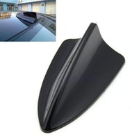 Wholesale M65 New pc Universal Fit Car Shark Fin Dummy BMW Style Antenna LED Light Decoration Black