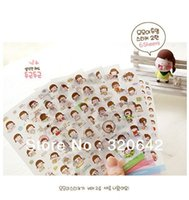 Wholesale South Korea Stationery lovely MOMOI silently love DIY diary Transparent sticker gift decoration book stickers