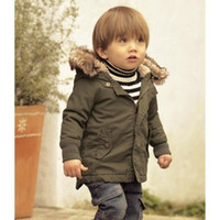 baby clothes military - Baby Clothes for Boys Kids Winter Overcoat Children Thick Coat Children Clothes Outwear Army Green Down Jacket Infant Boys Jacket Boys Coat