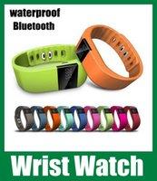 walkie talkie watch - Waterproof walkie talkie wrist watchTW64 Smart Wristband Fitness Tracker Bluetooth Smart Watch For iPhone Samsung S5 Note oth048