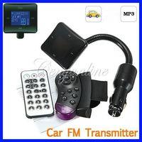 Wholesale New Bluetooth Car Kit FM Radio Transmitter Modulator MP3 Music Player USB SD MMC Steering Wheel Remote Control