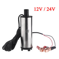 Wholesale DC V V Water Oil Diesel Fuel Transfer Pump Submersible Pumps Car Camping fishing Submersible Switch Stainless Steel