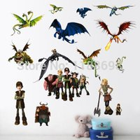 best living room designs - Zooyoo1427 New How to Train Your Dragon Cartoon Wall Stickers For Kids Room Best Sell Bedroom Wall Stickers Home Decoration