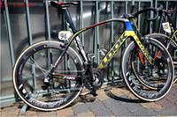 Wholesale 2015 LO0K light T1000 k full carbon fiber black red yellow racing road frame bicycle complete bike bicicleta frameset Canyon Scott
