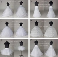 Wholesale Newest Cheap Styles White A Line Mermaid Ball Gown Hoop Hoopless Short Crinoline Petticoat Slip Underskirt For Wedding Dresses Online
