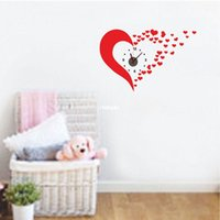 Wholesale Love Wall Watches - Wall stickers home decoration When love PVC wall stickers Wholesale wall stickers living room wall clock watch creative wedding new home orn