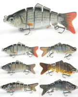 Wholesale 4 inch oz Segments Swimbait Fishing Lure Crankbait For Bass Fishing D eyes fishing lure