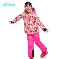 Wholesale Phibee Camouflage Red Girls Ski Suit Ski Jacket Ski Pants Fashion Breathable Female Waterproof Thermal