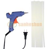 Wholesale 20W V Blue Electric Heating Hot Melt Glue Gun Crafts Repair Tool Professional Glue Sticks High Quality