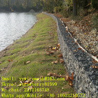 Wholesale 50Sets Or Sets Woven Gabion Basket Hot dipped Galvanized Appearance Used In River Bank For Children s Safety