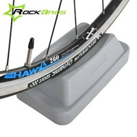 bicycle trainer stand - ROCKBROS Mountain Road Bike Wheel Stand Station Bicycle Accessories Bike Trainer Booster Device Riding Station Front Wheel
